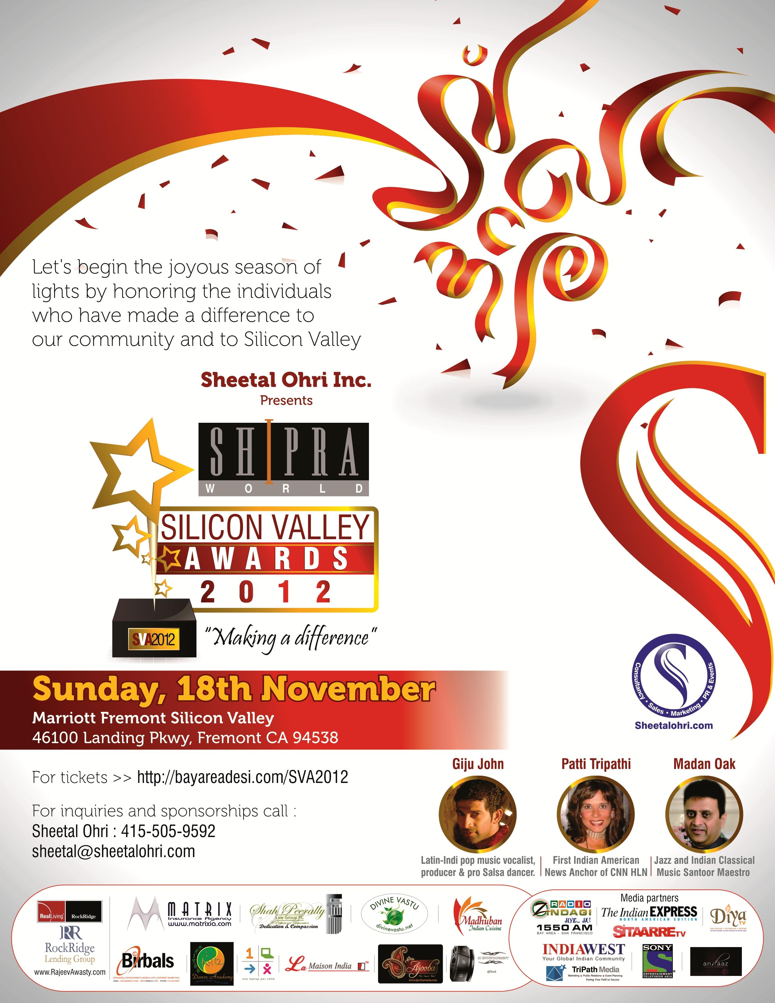 Sheetal Ohri Silicon Valley Awards 2012