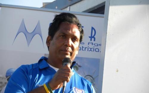 Sunil Kumar-delivering president note.JPG