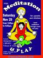 Free Meditation for parents and children in Fremont